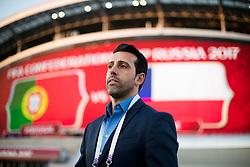 June 28, 2017 - Edu Gaspar, coordenador dee futebol da seleção brasileira chega para acompanhar a partida entre Portugal x Chile válida pela semifinal da Copa das Confederações 2017, nesta quarta-feira (28), realizada na Arena Kazan, em Kazan, na Rússia. (Credit Image: © Marcelo Machado De Melo/Fotoarena via ZUMA Press)