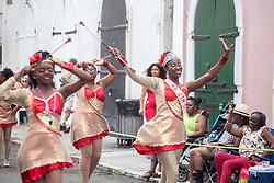 The Charming Twirlers Majorettes.  Carnival 2017 Adults' Parade.  Charlotte Amalie.  St. Thomas, USVI.  29 April 2017.  © Aisha-Zakiya Boyd