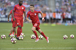 June 8, 2017 - Commerce City, Colorado, United States - Commerce City, CO - Thursday June 08, 2017: Christian Pulisic during their 2018 FIFA World Cup Qualifying Final Round match versus Trinidad & Tobago at Dick's Sporting Goods Park. (Credit Image: © John Todd/ISIPhotos via ZUMA Wire)