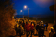 La marcia silenziosa contro il trasferimento dei richiedenti asilo del Cara di Castelnuovo di Porto. Roma 22 Gennaio 2019. Christian Mantuano / OneShot<br />