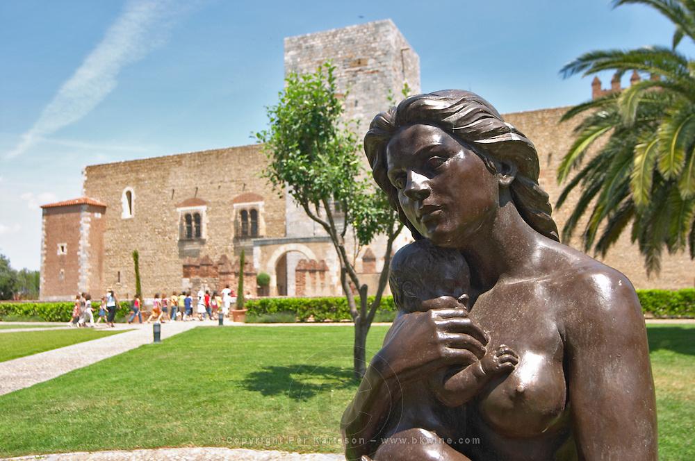 Sculpture by Aristide Maillol. Palais des Rois de Majorque, Palace of the Majorca Kings. Perpignan, Roussillon, France.