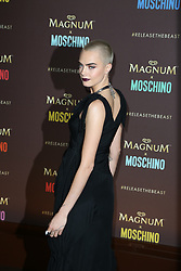 Cara Delevingne attending the Magnum X Moschino Party at Plage Magnum during The 70th Annual Cannes Film Festival in Cannes, southern France on May 18, 2017. Photo by Jerome Domine/ABACAPRESS.COM