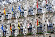 Leuven  is een stad en gemeente in de Belgische provincie Vlaams-Brabant. Ze is de centraal gelegen hoofdstad van deze provincie en tevens de hoofdplaats van het bestuurlijke en gerechtelijke arrondissement Leuven. Leuven telt ruim 90.000 inwoners./////Leuven  is the capital of the province of Flemish Brabant in the Flemish Region, Belgium.<br /> <br /> Op de foto//On the Photo:<br /> <br />  Stadhuis / Town Hall