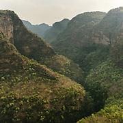 Wooded hills, host of wildlife, in Satpura National Park.