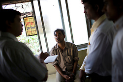Bagchend Balotiya has two sons with TB, one of whome has MDR TB. He came to the Thakkar Bappa DOTS Clinic to discuss the situation wth health workers.