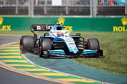 March 15, 2019 - Albert Park, VIC, U.S. - ALBERT PARK, VIC - MARCH 15: Williams Racing driver Robert Kubica (88) runs off the track at The Australian Formula One Grand Prix on March 15, 2019, at The Melbourne Grand Prix Circuit in Albert Park, Australia. (Photo by Speed Media/Icon Sportswire) (Credit Image: © Steven Markham/Icon SMI via ZUMA Press)