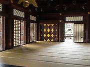 Hall interior at the Higashi-Honganji Temple, Kyoyo, Japan