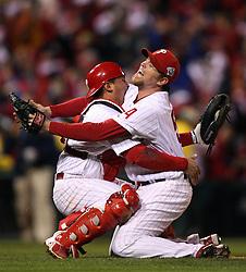 Carlos Ruiz, Brad Lidge, and the Philadelphia Phillies win, 2008