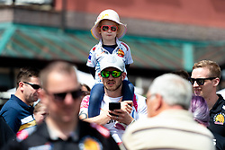 Fans at Exeter Quay as Exeter Chiefs players row Dragon Boats down the Quay wearing the new Home and European Kits for the 2019/20 Season - Ryan Hiscott/JMP - 19/07/2019 - SPORT - Exeter Quay - Exeter, England - Exeter Chiefs Kit Launch