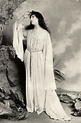 Mrs FR Benson (born Constance Featherstonhaugh - 1860-1946) English actress. Married the actor-manager Frank Benson (1858-1939) in 1886 and appeared for many years as his leading lady.  Here as Miranda in 'The Tempest' by William Shakespeare.