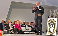 UTRECHT - Congres NVG, Nederlandse Vereniging van Golfexploitanten. Spreker Sander Allegro aan het woord. COPYRIGHT KOEN SUYK