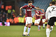 Aston Villa midfielder Henri Lansbury (8) takes a shot at goal during the The FA Cup 3rd round match between Aston Villa and Swansea City at Villa Park, Birmingham, England on 5 January 2019.