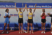 Banyoles, SPAIN,  GBR W2X, Annie VERNON and anna BEBINGTON Gold Medalist Women's Double Sculls at the FISA World Cup Rd 1. Lake Banyoles.  Sunday,  31/05/2009   [Mandatory Credit. Peter Spurrier/Intersport Images]