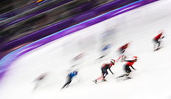 Mens 5000m relay at the Gangneung Oval during day four of the PyeongChang 2018 Winter Olympic Games in South Korea. PRESS ASSOCIATION Photo. Picture date: Tuesday February 13, 2018. See PA story OLYMPICS Short Track. Photo credit should read: David Davies/PA Wire. RESTRICTIONS: Editorial use only. No commercial use.