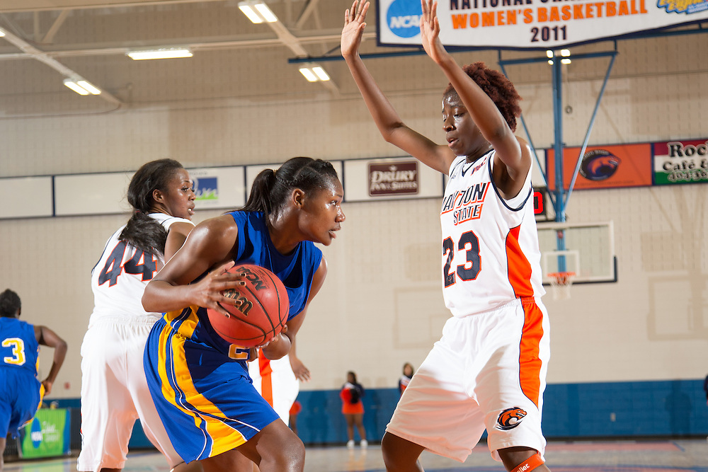 Dec. 3, 2014; Morrow, GA, USA; CSU's DaQueena Moore (23) in action against Fort Valley State at CSU. Clayton State won 87-73. Photo by Kevin Liles / kevindliles.com