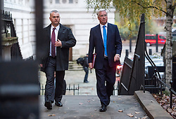 © Licensed to London News Pictures. 23/11/2016. London, UK. Defence secretary MICHAEL FALLON arrives on Downing Street in London for a cabinet meeting before Chancellor Philip Hammond delivers his first Autumn statement to parliament. Photo credit: Ben Cawthra/LNP