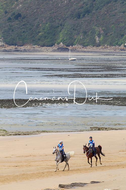 Beth Langley, (GBR), HS Ametista, Anna Jane Williams, Crystal Wissam - Endurance - Alltech FEI World Equestrian Games™ 2014 - Normandy, France.<br /> © Hippo Foto Team - Leanjo de Koster<br /> 25/06/14