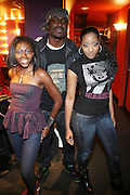 l to r: Candace Anderson, Corey Smith and Tyaire at The Sony HipHop Live Tour featuring Talib Kweli and David Banner held at The Nokia Theater on October 25, 2008 in NYC