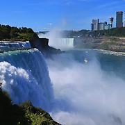 """Sparkling Power of Niagara Falls""<br /> <br /> A wonderful view of Niagara Falls from the American side. Powerful, sparkling and vast!!<br /> <br /> Waterfalls by Rachel Cohen"