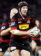 Canterbury prop Wyatt Crockett on the attack during the Air New Zealand Cup week 4 Ranfurly Shield match between Canterbury and Southland on Friday August 18, 2006 at Jade Stadium in Christchurch, New Zealand. Canterbury won the game 24-7. Photo: Jim Helsel/Photosport