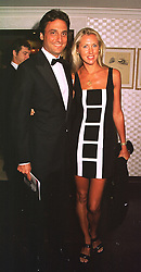 MISS CATRINA SKEPPER and her fiance COUNT ALESSANDRO GUERRINI-MARALDI, at a film premier on 26th August 1998.MJL 106