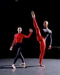 Julie Cunningham and Company<br /> Double Bill<br /> at The Pitt, Barbican Theatre, London, Great Britain <br /> 8th March 2017 <br /> <br /> Julie Cunningham <br /> Harry Alexander<br /> <br /> <br /> Award-winning dancer and nominee of the 2016 Critics' Circle National Dance Award for Emerging Artist, Julie Cunningham launches her newly formed company, and makes her Barbican choreographic debut with an expressive double bill about gender and identity.<br />  <br /> <br /> Piece 2: To Be Me <br /> <br /> <br /> Photograph by Elliott Franks <br /> Image licensed to Elliott Franks Photography Services