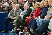 DALLAS, TX - DECEMBER 16: Former U.S. President George W. Bush and his wife Laura Bush look on during an NCAA basketball game between the SMU Mustangs and the Nicholls State Colonels on December 16, 2015 at Moody Coliseum in Dallas, Texas.  (Photo by Cooper Neill/Getty Images) *** Local Caption *** George W. Bush; Laura Bush