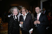 Raine Countess Spencer, Savino del Pretee and Nicky Haslam, private view of The Alberto Bruni Tedeschi Collection -  Sotheby's,19 March 2007.  -DO NOT ARCHIVE-© Copyright Photograph by Dafydd Jones. 248 Clapham Rd. London SW9 0PZ. Tel 0207 820 0771. www.dafjones.com.