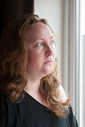 Emma Plummer of Cudworth who found her two year old cat Maisie bloodied and dying in an alley  next to her home after being attacked by stray dogs.<br /> <br /> 1 October 2013<br /> Image © Paul David Drabble<br /> www.pauldaviddrabble.co.uk