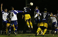 Photo: Paul Thomas.<br /> Bury v Weymouth. The FA Cup. 21/11/2006.<br /> <br /> Simon Downer (5) scores for Weymouth.