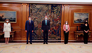 033121 King Felipe VI attends the swearing in or promise of the new ministers of Spanish Goverment