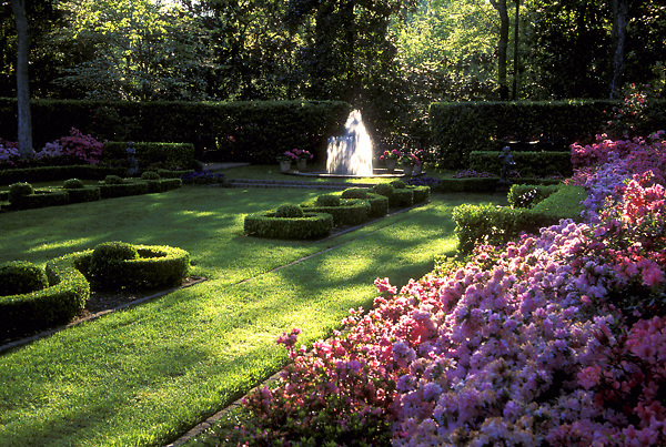 Stock photo of the gardens at Bayou Bend.