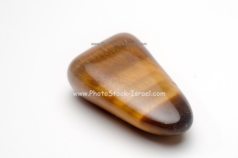 Single Tiger Eye Semiprecious Gemstone Gemini Birthstone
