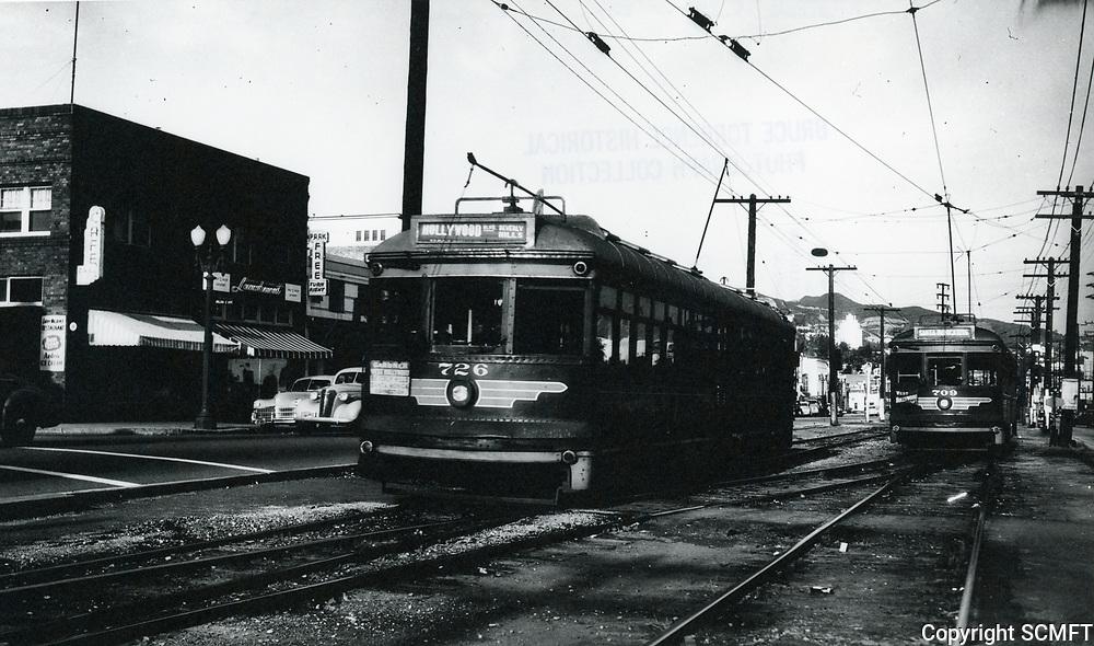 1938 Street car on Santa Monica Blvd. in West Hollywood
