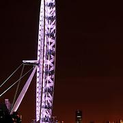 Millenium Wheel (London Eye) on the River Thames at night