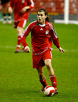Fotball<br /> Foto: Propaganda/Digitalsport<br /> NORWAY ONLY<br /> <br /> Liverpool, England - Friday, January 26, 2007: Liverpool's Astrit Ajdarevic in action against Reading during the FA Youth Cup 5th Round match at Anfield.