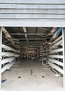 Henley on Thames, United Kingdom. 2016 Henley Masters' Regatta. Henley Reach. England. on Saturday  09/07/2016   [Mandatory Credit/ Peter SPURRIER/Intersport Images]<br /> <br /> Interior, Upper Thames RC. Club Boathouse Shed. Rowing, Henley Reach, Henley Masters' Regatta.<br /> <br /> General View,  Henley Reach, venue, for the 2016 Henley Masters Regatta.