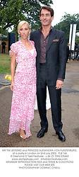 MR TIM JEFFERIES and PRINCESS ALEXANDRA VON FURSTENBURG, at a party in London on 2nd July 2003. PLB 146