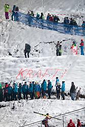 06.01.2015, Paul Ausserleitner Schanze, Bischofshofen, AUT, FIS Ski Sprung Weltcup, 63. Vierschanzentournee, Finale, im Bild Fans Stefan Kraft (AUT) // supporters of Stefan Kraft of Austria during Final Jump of 63rd Four Hills Tournament of FIS Ski Jumping World Cup at the Paul Ausserleitner Schanze, Bischofshofen, Austria on 2015/01/06. EXPA Pictures © 2015, PhotoCredit: EXPA/ Johann Groder