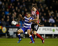 Sander Berge of Sheffield Utd challenges Andy Rinomhota of Reading during the FA Cup match at the Madejski Stadium, Reading. Picture date: 3rd March 2020. Picture credit should read: Simon Bellis/Sportimage