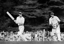 The Duke of Edinburgh batting during the 12 a side cricket match between the Duke of Edinburgh and the Duke of Norfolk. His team were made up of former England cricketers, and the Duke of Norfolk's mainly Sussex players.