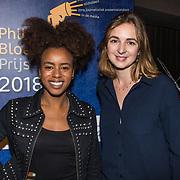 NLD/Hilversum/20181213 - Uitreiking Philip Bloemendal Prijs 2018, Eva Cleven en winnares Saskia Houttuin