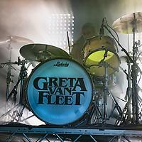 6th November 2019, Glasgow, UK. American rock band Greta Van Fleet bring their retro rock style to Glasgow's O2 Academy - Credit Stuart Westwood