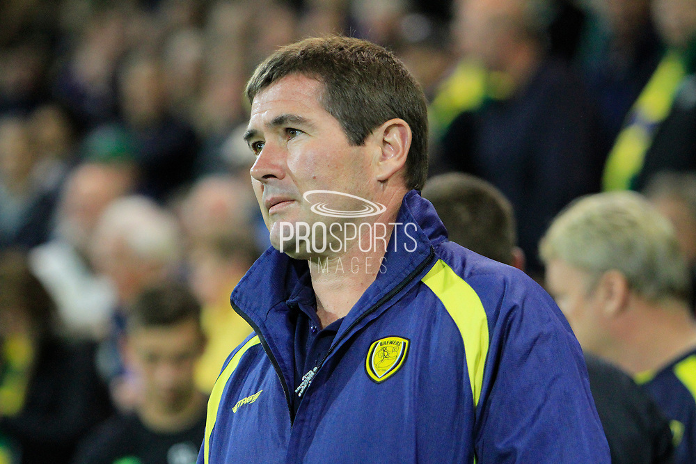 Burton Albion manager Nigel Clough during the EFL Sky Bet Championship match between Norwich City and Burton Albion at Carrow Road, Norwich, England on 12 September 2017. Photo by Richard Holmes.