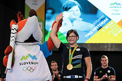 Tina Trstenjak during reception of Slovenian Olympic Team at BTC City when they came back from Rio de Janeiro after Summer Olympic games 2016, on August 26, 2016 in Ljubljana, Slovenia. Photo by Matic Klansek Velej / Sportida