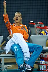 10-11-2011 VOLLEYBAL: PRE OKT NEDERLAND - ISRAEL: POREC<br /> Nederland wint vrij eenvoudig met 3-0 van Israel / Captain Manon Flier<br /> ©2011-FotoHoogendoorn.nl