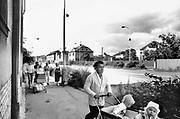 Tsjecho-Slowakije, Kladno, 25-6-1988Straatbeeld van deze industriestad, slaapstad vlak bij Praag. IJzeren gordijn.FOTO: FLIP FRANSSEN