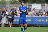 AFC Wimbledon defender Callum Kennedy (23) walking off the pitch during the EFL Sky Bet League 1 match between AFC Wimbledon and Oldham Athletic at the Cherry Red Records Stadium, Kingston, England on 21 April 2018. Picture by Matthew Redman.