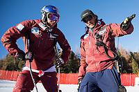 BILDET INNGÅR IKEK I FASTAVTALER. ALL NEDLASTING BLIR FAKTURERT.<br /> <br /> Alpint<br /> Foto: imago/Digitalsport<br /> NORWAY ONLY<br /> <br /> Santa Caterina 26.12.2015, Deborah Compagnoni Rennstrecke, Santa Caterina, ITA, FIS Ski Weltcup, Santa Caterina, Abfahrt, Herren, 1. Training, Streckenbesichtigung, im Bild v.l. Aksel Lund Svindal (NOR), Christian Mitter (Herren Cheftrainer Norwegen) // Aksel Lund Svindal of Norway ( L ) and Norwegian men s head coach Christian Mitter ( R ) during the course inspection of 1st practice run of men s Downhill of the Santa Caterina FIS Ski Alpine World Cup at the Deborah Compagnoni Course in Santa Caterina, Italy on 2015/12/26.