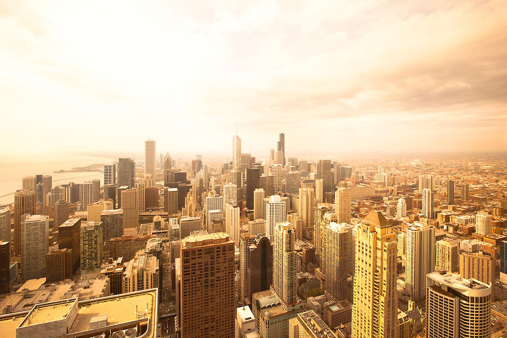 Overview of downtown, Chicago, Illinois, USA